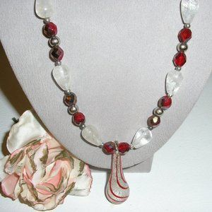 """18"""" Vintage Murano glass beaded necklace"""